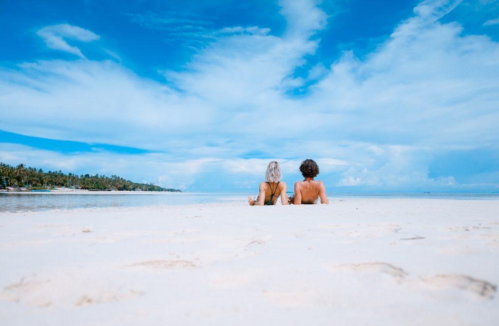 Sunbathing women at the beach