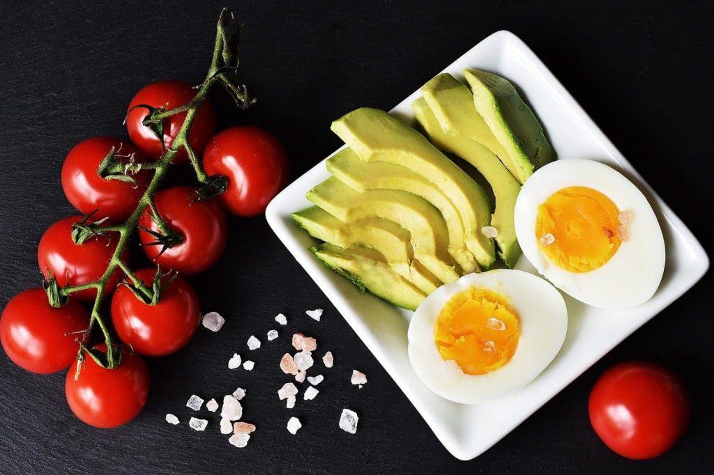 Egg tomato and avocado
